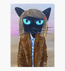 Anderson Tenenbaum black cat  Photographic Print