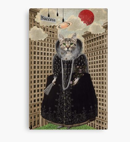 Animal Collection -- Lost In The City Canvas Print