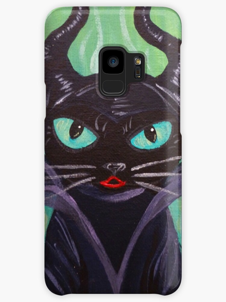 Maleficent Witch Raven Black Cat Villain Case Skin For Samsung Galaxy By Muertocupcake