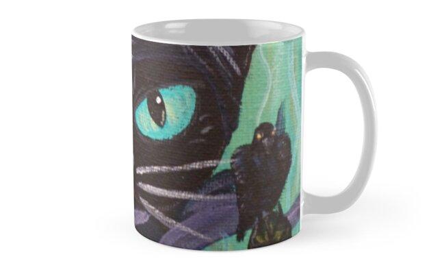 Maleficent Witch Raven Black Cat Villain Mug By Muertocupcake