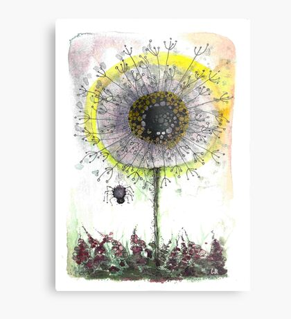 Dandy Little Spider and Wish Stick Metal Print
