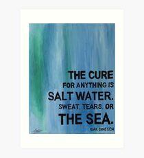 Isak Dinesen Salt Water Quote Painting Art Print