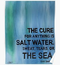 Isak Dinesen Salt Water Quote Painting Poster