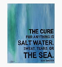 Isak Dinesen Salt Water Quote Painting Photographic Print