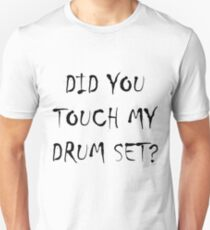 Drum Set Black T-Shirt