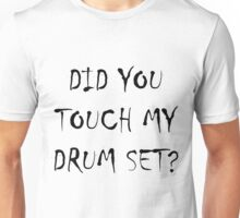 Drum Set Black Unisex T-Shirt