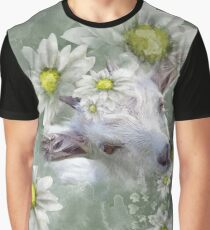 Don't Eat the Daisies Baby Goat Graphic T-Shirt