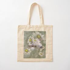 Don't Eat the Daisies Baby Goat Cotton Tote Bag