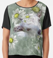 Don't Eat the Daisies Baby Goat Chiffon Top