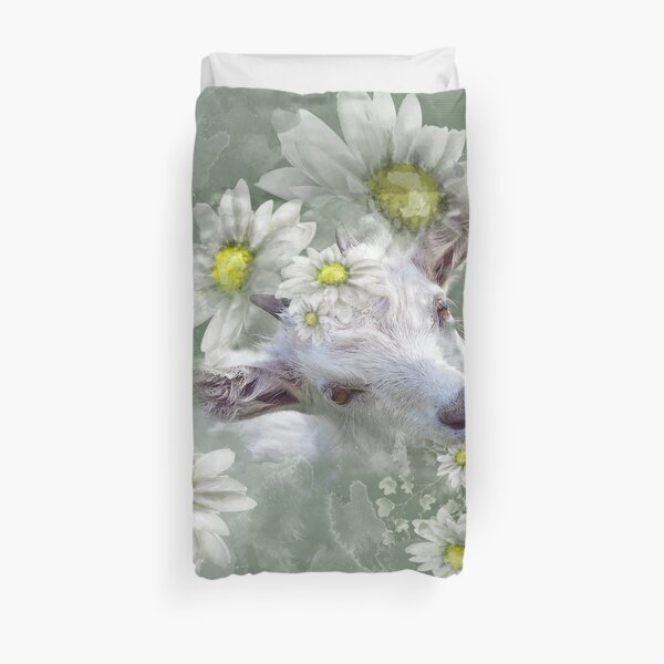 Don't Eat the Daisies Baby Goat Duvet Cover