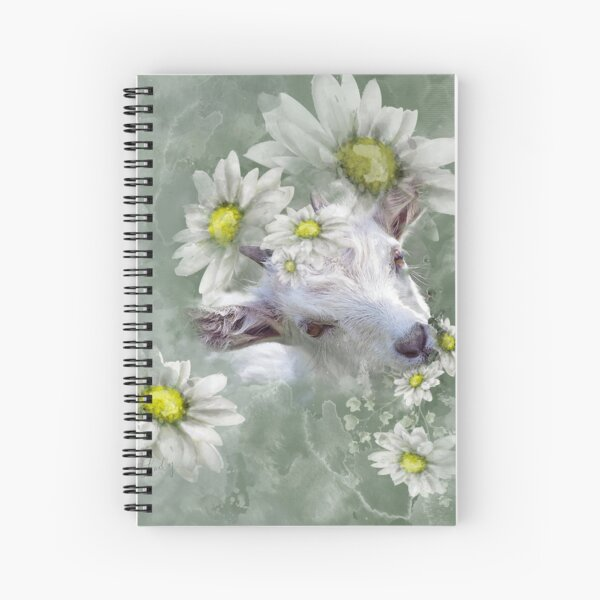 Don't Eat the Daisies Baby Goat Spiral Notebook