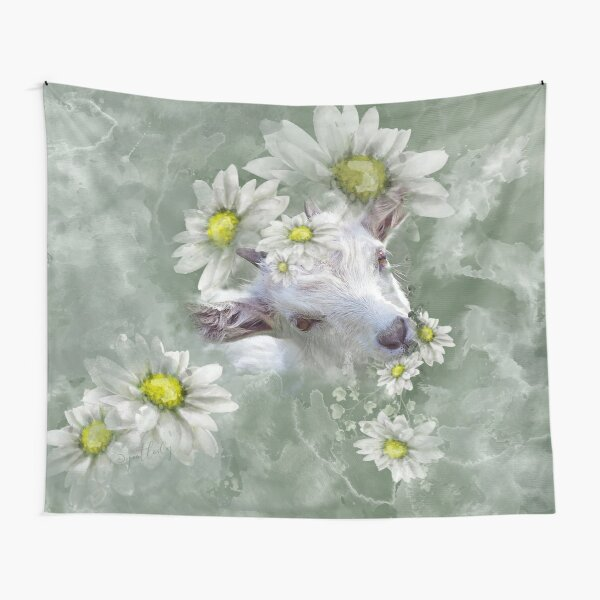 Don't Eat the Daisies Baby Goat Tapestry