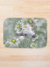Don't Eat the Daisies Baby Goat Bath Mat