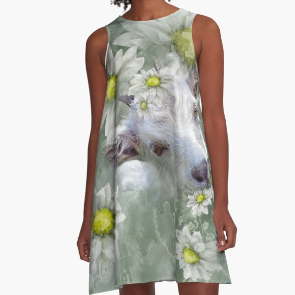Don't Eat the Daisies Baby Goat A-Line Dress