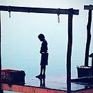 Boy on Jetty by Alan Bennett