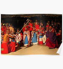 Masai ritual Poster