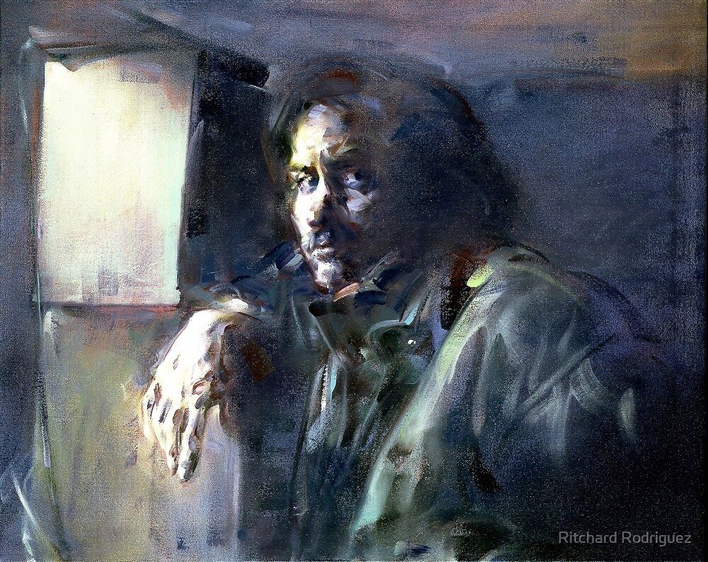 Portrait of Kip Hanrahan (at the 11th Street Studio, NYC) by Ritchard Rodriguez