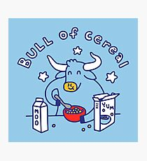 Bull of Cereal Photographic Print