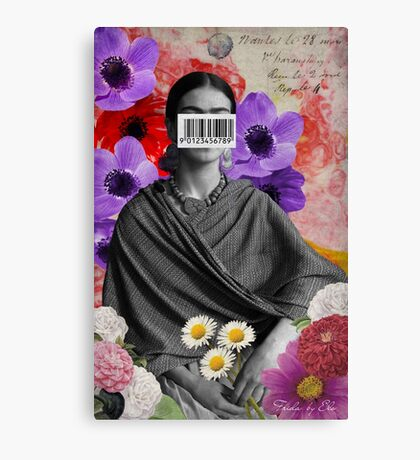 Public Figures Collection -- Frida by Elo Canvas Print