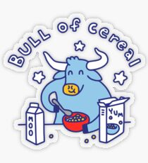 Bull of Cereal Transparent Sticker