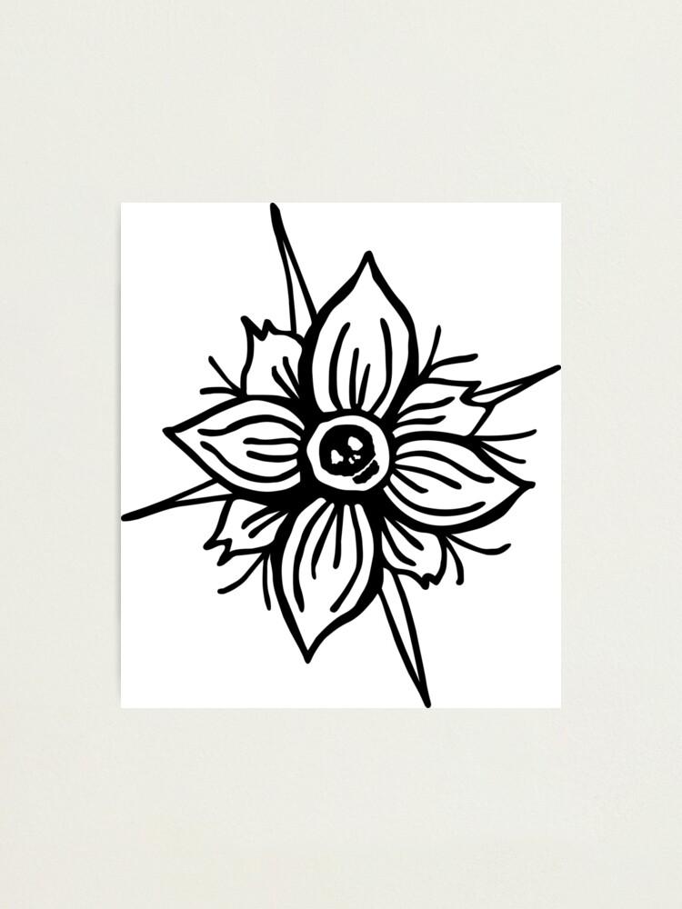 Alternate view of Flower Skull Photographic Print