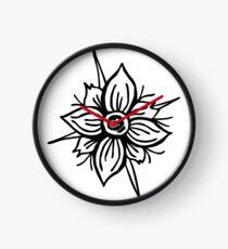 Flower Skull Clock