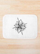 Flower Skull Bath Mat