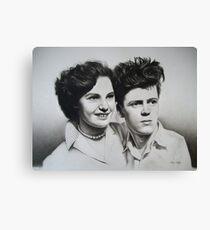 Jean & Jimmy Canvas Print