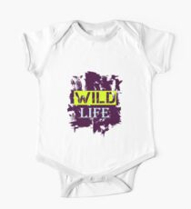 Wild Life quote on grunge background Kids Clothes