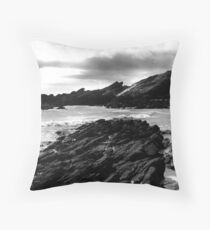 Collieston Beach, Aberdeenshire Throw Pillow