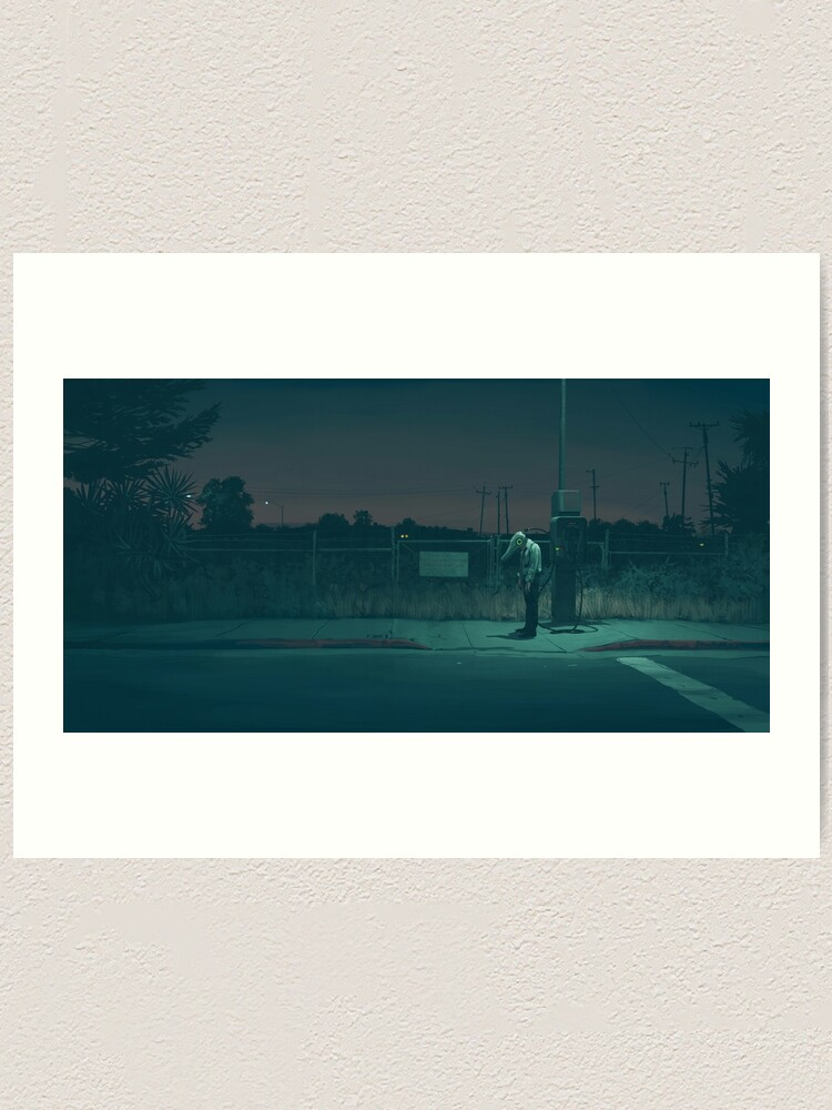 Alternate view of Midnight Upload Art Print