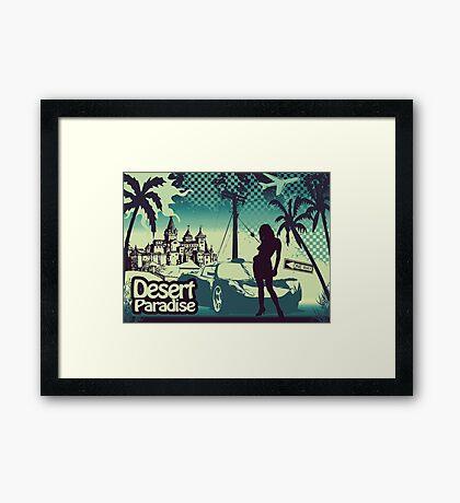 Desert paradise blue Framed Print