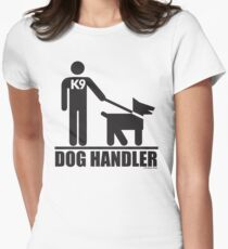 Dog Handler K9 Pictogram Women's Fitted T-Shirt