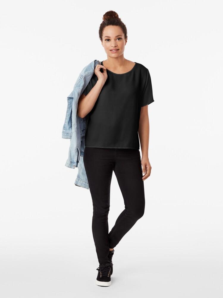 Vista alternativa de Blusa De color negro