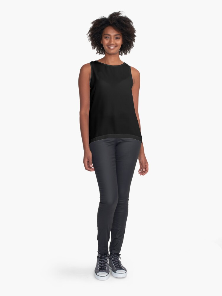 Vista alternativa de Blusa sin mangas De color negro