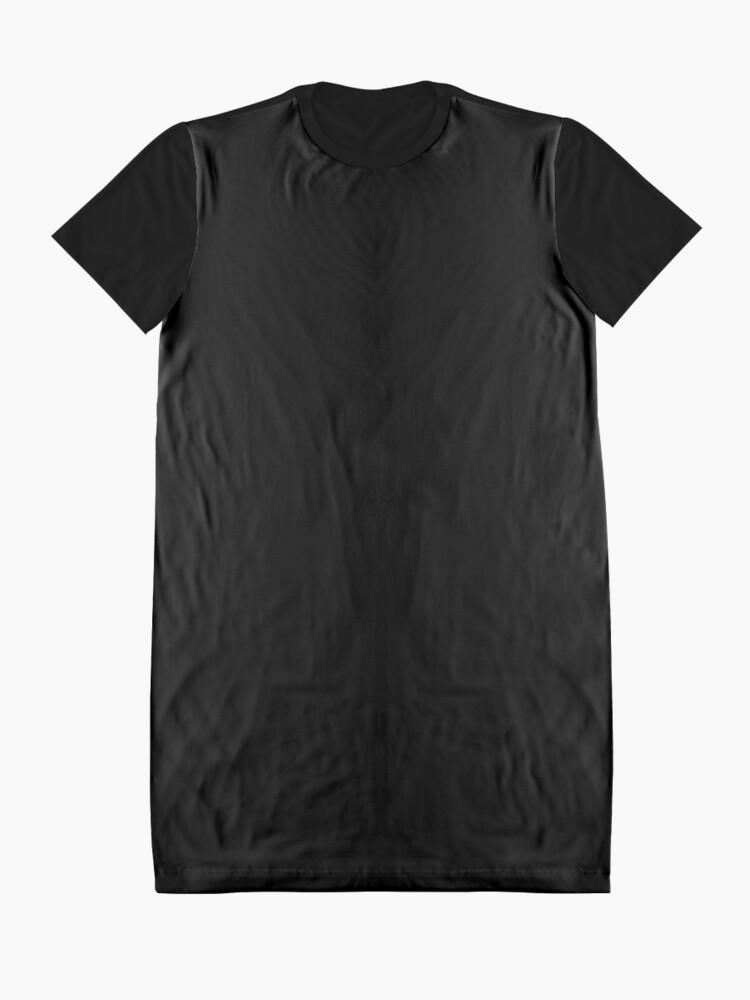Vista alternativa de Vestido camiseta De color negro