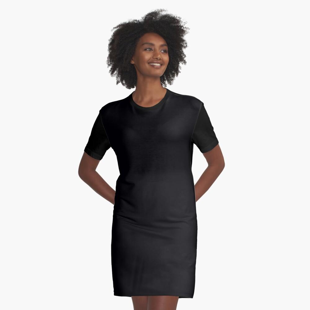 De color negro Vestido camiseta