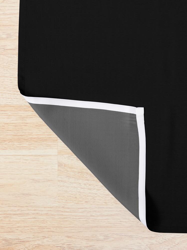 Vista alternativa de Cortina de ducha De color negro