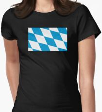 Bavaria Flag Women's Fitted T-Shirt