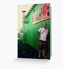 Green Walls in Sketchy Places. Greeting Card