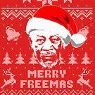 Morgan Freeman Merry Freemas Christmas Sweater von idaspark