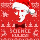 Bill Nye Science Rules Ugly Christmas Sweater von idaspark