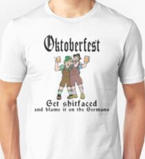 Oktoberfest Get ShitFaced Blame It On The Germans T-Shirt
