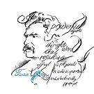 Mark Twain Picture Quote - The Right Word by Douglas Rickard
