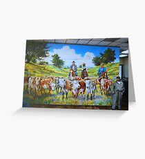 Mural in Fort Worth Greeting Card