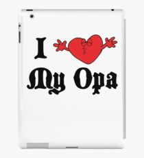 I Love My Opa iPad Case/Skin