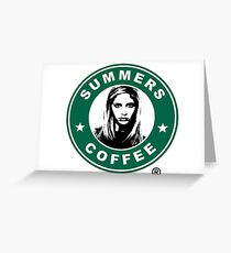 Buffy The Vampire Slayer - Summers Coffee Greeting Card