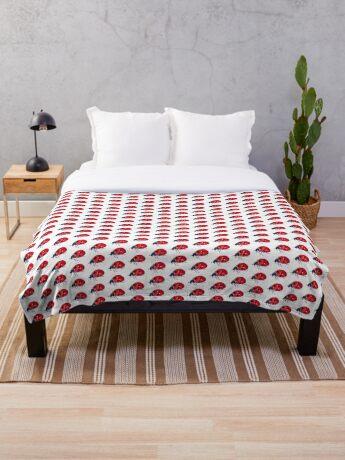 BAANTAL / Pollinate / Ladybird Throw Blanket