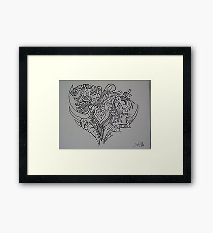 A Heart Full of Emotion Framed Print