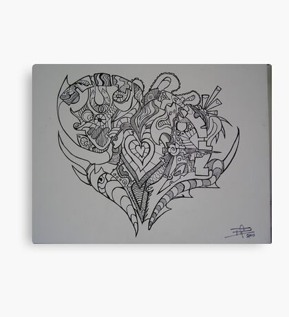 A Heart Full of Emotion Canvas Print